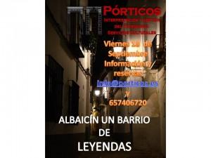 RECORRIDO: EL ALBAICÍN, UN BARRIO DE LEYENDAS