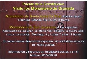 VISITE LOS MONASTERIOS DE GRANADA DURANTE EL PUENTE DE LA CONSTITUCIÓN