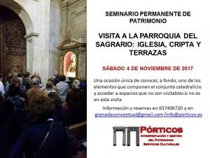 VISITA A LA PARROQUIA DEL SAGRARIO (Iglesia, Cripta y Terrazas)