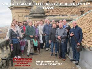 VISITA A LA PARROQUIA DEL SAGRARIO, CRIPTA Y TERRAZAS