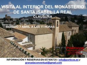 VISITA AL INTERIOR DEL MONASTERIO DE SANTA ISABEL LA REAL.
