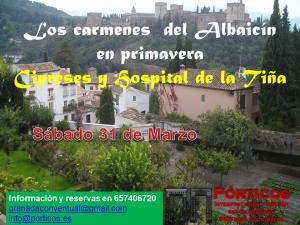 PASEO POR LOS CARMENES DEL ALBAICÍN EN PRIMAVERA