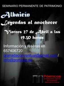 EL ALBAICÍN Y LAS LEYENDAS AL ATARDECER