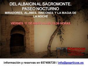 """VISITA """"DEL ALBAICÍN AL SACROMONTE"""" NOCTURNA"""
