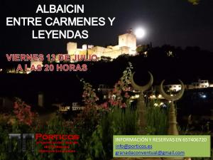EL ALBAICÍN, ENTRE LEYENDAS Y CARMENES, VISITA AL ATARDECER
