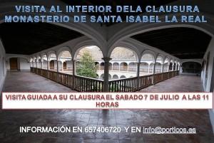 VISITA A LA CLAUSURA DEL MONASTERIO DE SANTA ISABELLA REAL