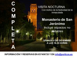 VISITA NOCTURNA AL MONASTERIO DE SAN JERÓNIMO