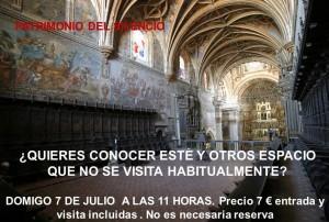 VISITA AL MONASTERIO DE SAN JERÓNIMO. ESPACIOS RESERVADOS.