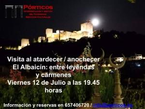 EL ENTORNO DEL DARRO AL ATARDECER: ENTRE LAS LEYENDAS  Y  PATRIMONIO