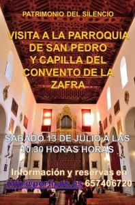 VISITA A LA PARROQUIA DE SAN PEDRO Y CAPILLA DEL CONVENTO DE ZAFRA