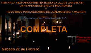 """VISITA A LA """"EXPOSICIÓN DE TEXTILES A LA LUZ DE LAS VELAS"""" Y MÁS….."""