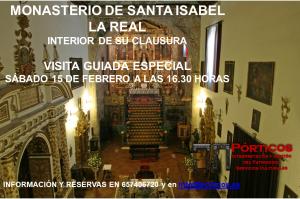 Visita sábado 15 a las 16.30 horas. Clausura de Santa Isabel la Real