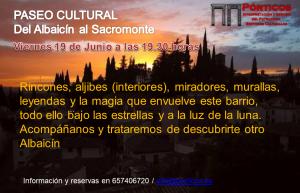 PASEO CULTURAL  DEL ALBAICÍN AL SACROMONTE