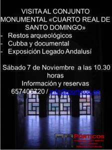 """VISITA AL CONJUNTO PATRIMONIAL  """"CUARTO REAL DE SANTO DOMINO"""" Y EXPOSICIÓN LEGADO ANDALUSÍ"""