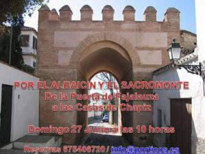 PASEO DEL ALBAICÍN AL SACROMONTE .Casas del Chapiz