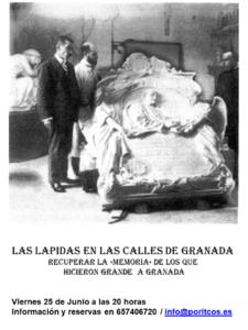 LOS PERSONAJES DE GRANADA A TRAVÉS DE LAS PLACAS DE NUESTRAS CALLES.